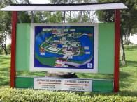 Map of the Chinese and Japanese Gardens at the entrance. Карта китайского и японского садов на входе.