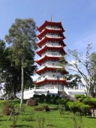 Pagoda in front of the Chinese Garden. Пагода перед китайским садом.